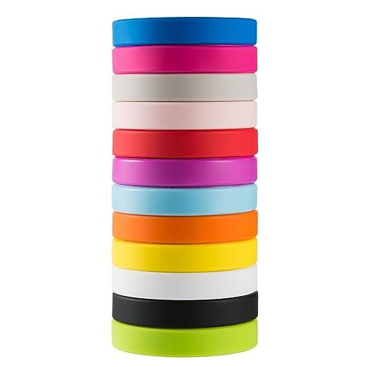 21 opinioni per Green House-Wholesale 12pcs / set Colori Misti Blank Braccialetti Silicone