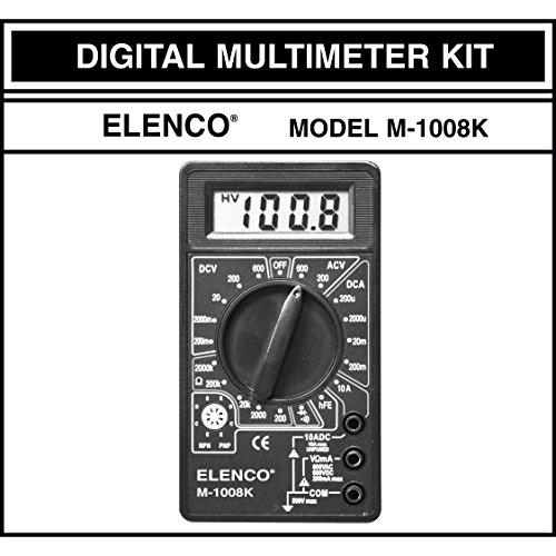 Elenco M-1008K - Digital Multimeter Solder Kit | Lead Free Solder | Great STEM Project | Soldering Required by Elenco (Image #2)