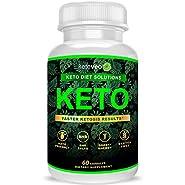 Keto Pills That Work Fast for Women & Men - Keto BHB Capsules Salts Exogenous Ketones Supplement - Keto Diet Pills Energy Boost, Raspberry Ketones, No Caffeine - Get in Ketosis for Ketogenic Diet