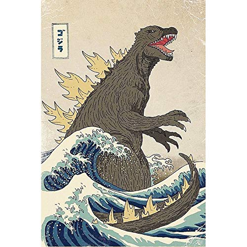 Paint By Number Kits Paintworks Diy Oil Painting For Kids And Adults Beginner,Painting On Canvas 16X20Inch,Ocean Wave Dinosaur