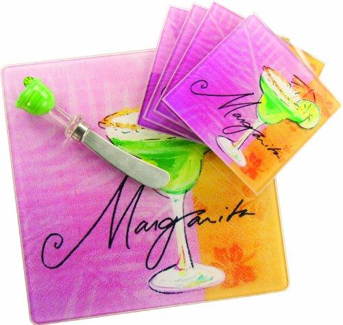 Manual 6-Piece Cheeseboard/Plates Gift Set, Margarita -