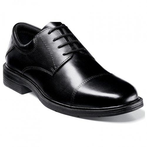 Nunn Bush Men's Jordan Casual Shoes,Black Smooth Leather,14 M US