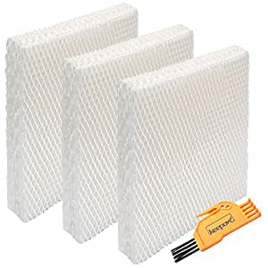 KEEPOW 3 Pack Humidifier Wicking Filters Compatible with Honeywell HFT600T, HFT600PDQ, Filter T