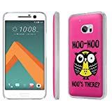 HTC [One M10] [HTC 10] Phone Case [SlickCandy] [Matte] Ultra Slim Cover - [Hoo is There Owl] for HTC [One M10] [HTC 10]