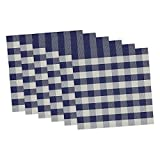 Design Imports 14'' Square Checkers Placemat (Set of 6)