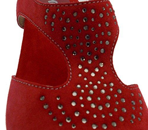 MELLUSO - Sandalias de vestir para mujer Rojo rojo