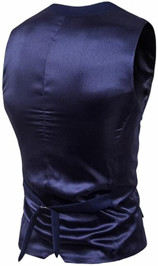XiaoTianXin-men clothes XTX Mens Single Breasted Regular Fit Plain Business Dress Suit Vest Waistcoat