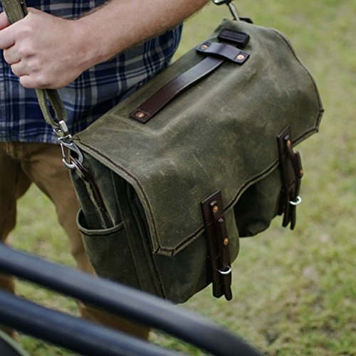 Saddleback Leather Canvas Front Pocket Gear Bag - Messenger Bag with 100 Year Warranty by Saddleback Leather Co. (Image #5)