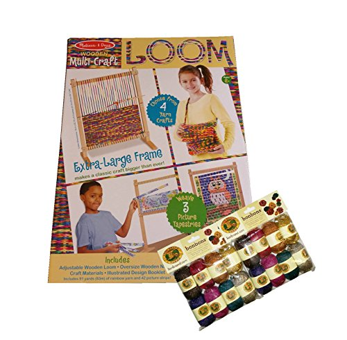 Wooden Multi-Craft Loom with 2-Sets of Yarn by Wooden Loom By Melissa & Doug