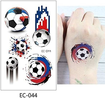 adgkitb 5piezas fútbol niños Tatuaje Temporal Pegatina Colorido ...