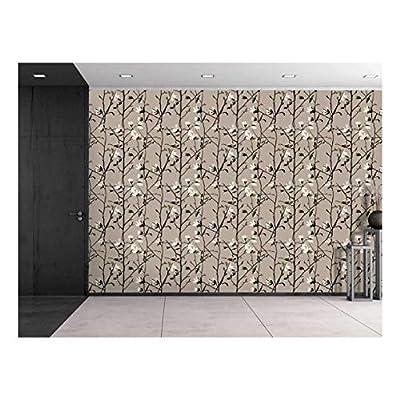 Large Wall Mural Seamless Floral Pattern Vinyl Wallpaper Removable Decorating, Classic Design, Unbelievable Artisanship