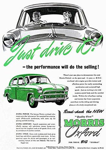 1955 Morris Oxford - Promotional Advertising Poster