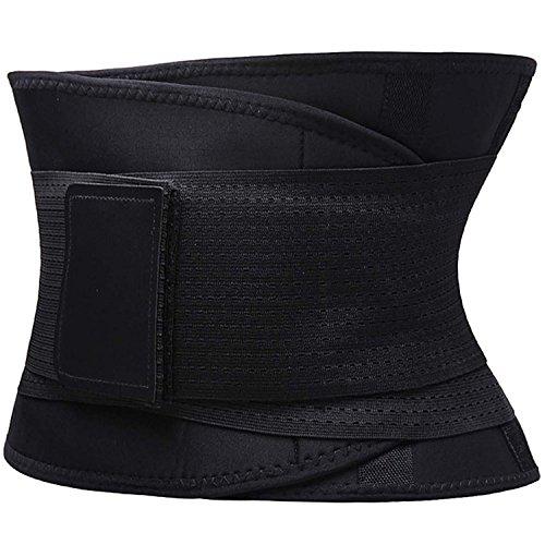 FOUMECH Women's Waist Trainer Belt-Waist Cincher Trimmer-Slimming Body Shaper Belt-Sport Girdle Belt (Black, Large) Photo #5