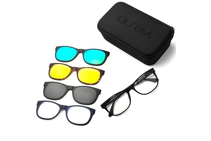 Ultem - Gafas de sol - para hombre negro negro Talla única ...