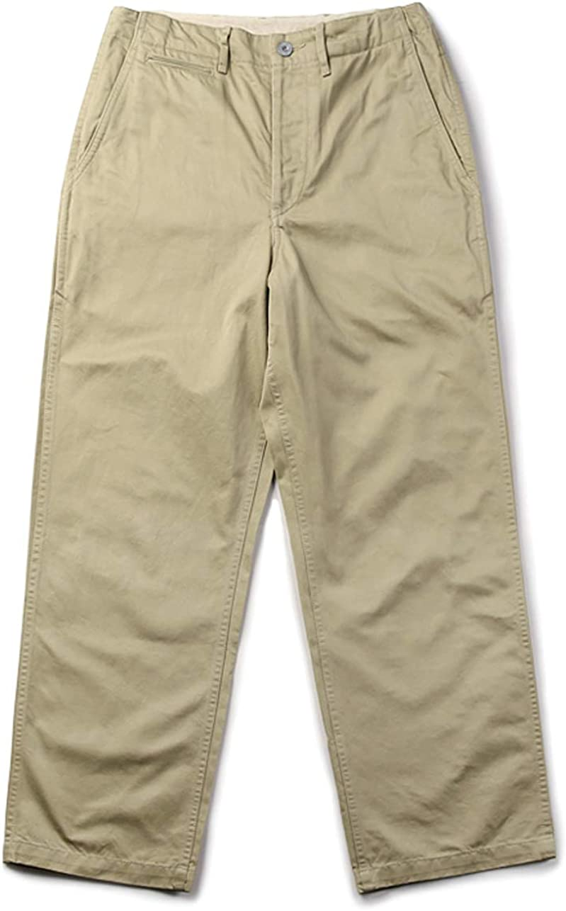1940s Trousers, Mens Wide Leg Pants VTGDR Bronson WW2 1942 US Army Khaki Chino  AT vintagedancer.com