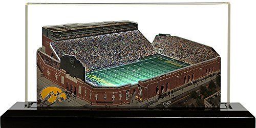 Iowa Hawkeyes Kinnick Stadium, Small Lighted in Display Case