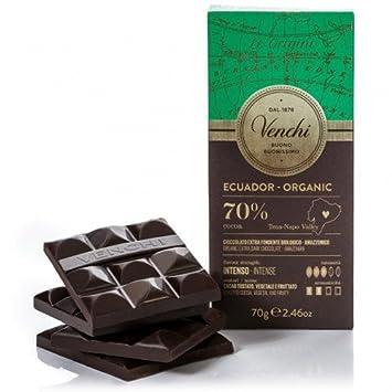 Amazoncom Venchi Ecuador Organic Blend 70 Cocoa Dark