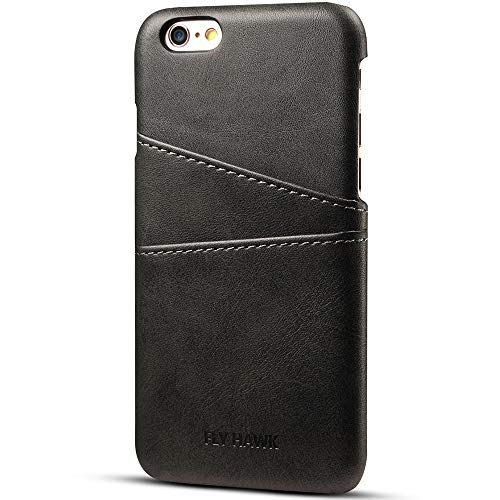 Phone Case Compatible with iPhone XS MAX, Slim PU Leather Back Case Cover, 6.5 inches, Black