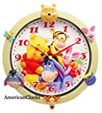 Disney Winnie The Pooh 3D Wall Clock, Animated lamp also available!