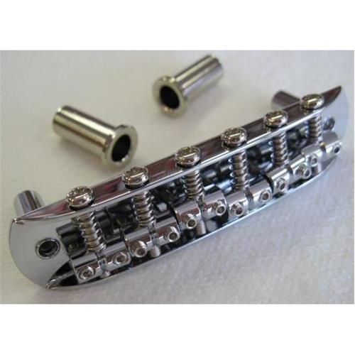 Fender Adjustable Saddle Bridge with Thimbles for Mustang Japan Jaguar and Jazzmaster Guitar, Chrome - Fender Jaguar Saddle