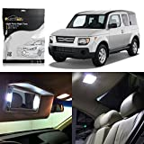 Partsam Honda Element 2003 2004 2005 2006 2007 2008 White Interior Lights LED Package Kit (6 Pieces)