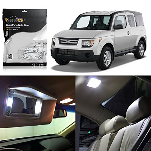 Partsam Interior Lights LED Package Kit Compatible with Honda Element 2003 2004 2005 2006 2007 2008 (White-6 Pieces) - Honda Element Interior Accessories