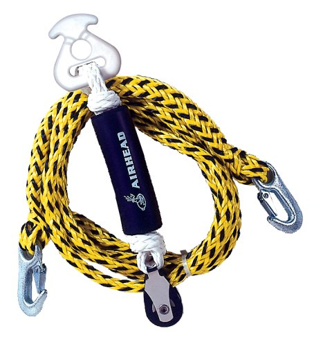 AIRHEAD Tow Harness, Self Centering Pulley, 12 ft. (Water Ski Rope Tow)