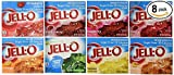 Jell-O Sugar Free Gelatin Sampler (Bundle of 8 Different Flavors .3-oz)