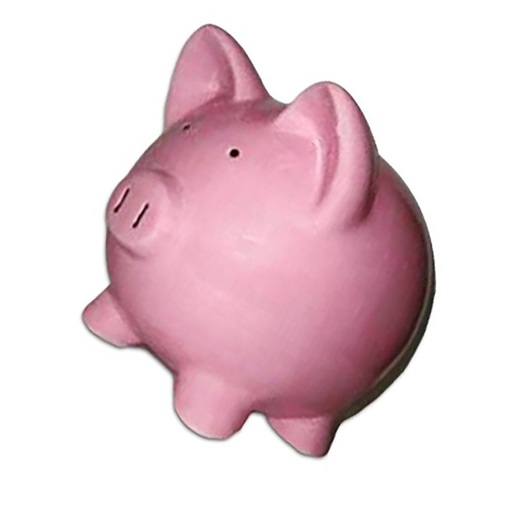 """Completely Custom {13"""" x 11'' Inch} 1 Single Large, Coin & Cash Bank Decoration for Holding Money, Made of Grade A Genuine Ceramic w/ Cute Girly Princess Matte Piggy Style {Black & Pink}"""
