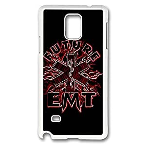 Fashionable EMT EMS Medical Rescue DIY Design Printed Protective Hard Case Cover for Samsung Galaxy Note 4 - One Piece Back Case Shell White 022612