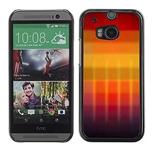 "For HTC One ( M8 ) , S-type Gradiente de colores"" - Arte & diseño plástico duro Fundas Cover Cubre Hard Case Cover"