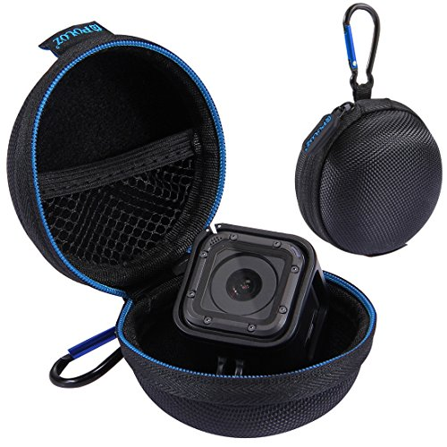 Wolven GoPro Hero Session Case Portable Shockproof GoPro Hero Session Case/Electronic Accessories Organizer Holder/USB Flash Drive Case Bag - Black