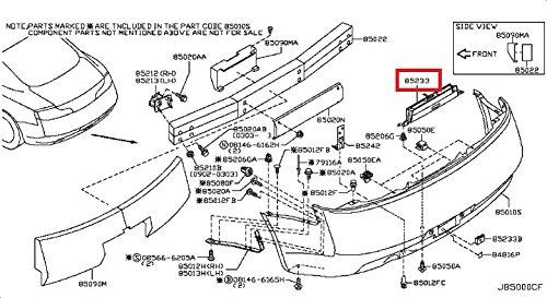 Infiniti Genuine License Plate Lamp Bracket 96252-AM601 G35 from Infiniti