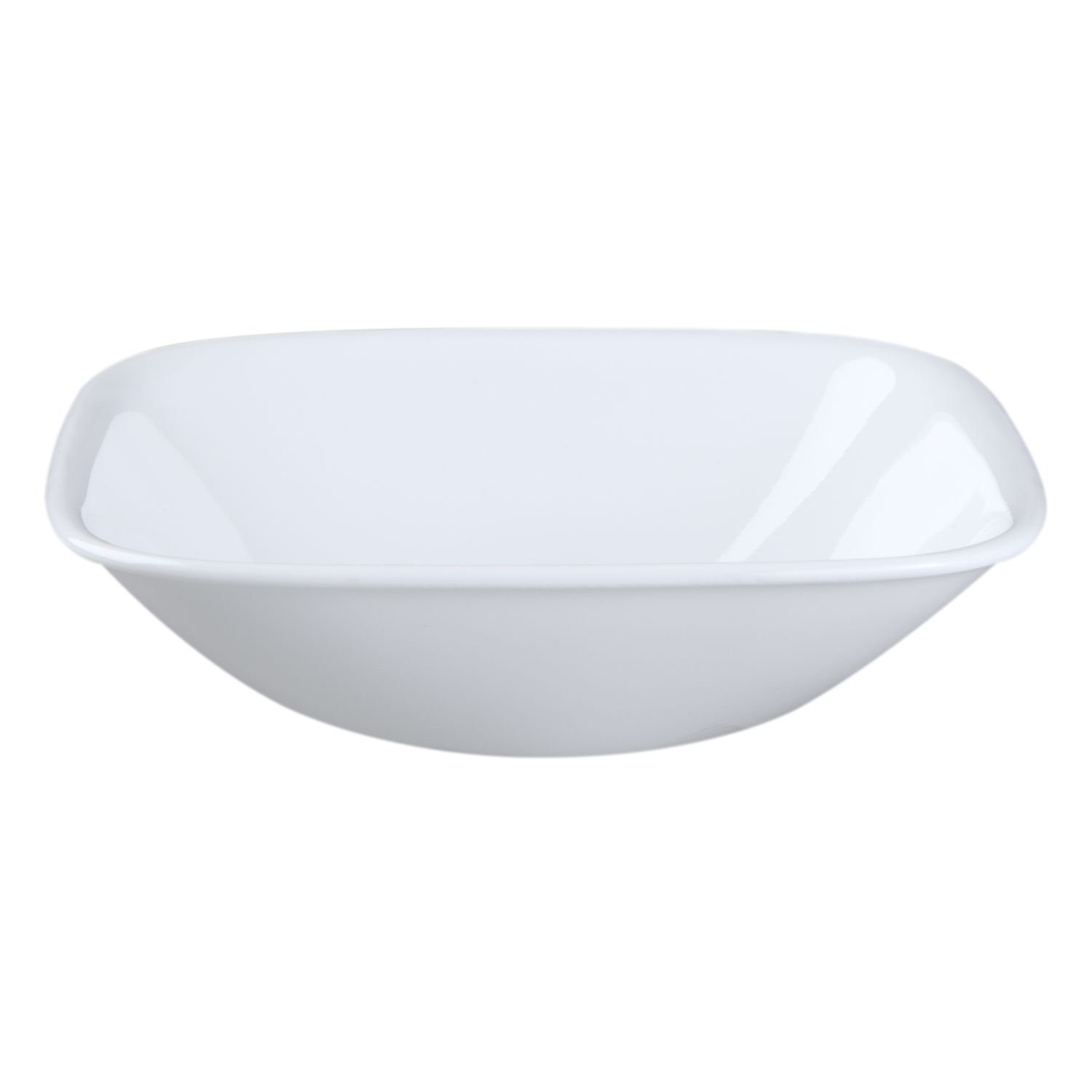 Corelle Square Pure White 10 Ounce Soup/Cereal Bowl (Set of 6) WORLD KITCHEN
