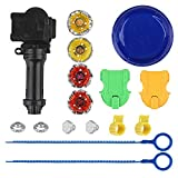 WELCOMY Bey Battling Blades Game Tops Metal Fusion Starter Set Launchers and Arena Included, Beyblade