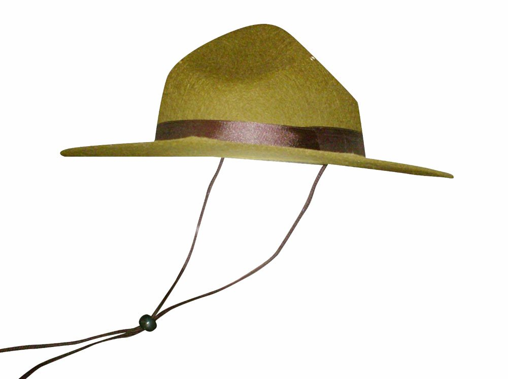 d648e4b2b Olive Green Park Ranger/Mountie/ Smokey Bear Hat-One Size Fits Most Adults
