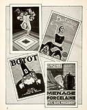 1926 Print Ripolin Botot Toothpaste Batschari Cigarette Porcelaine Puritan Art - Original Halftone Print