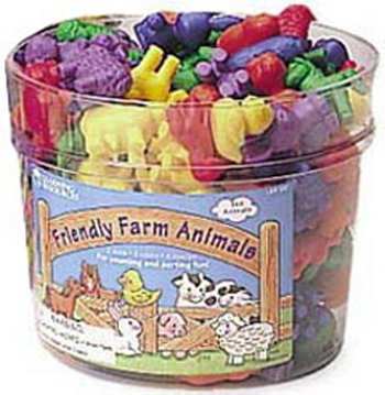 Learning Resources CTERS FRIENDLY FARM ANIMAL 144PK by Learning Educational Products