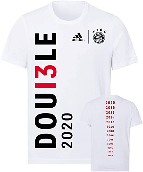 FC Bayern M/ünchen T-Shirt Double 2020 wei/ß