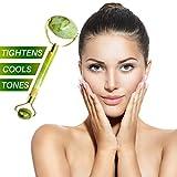 Premium Jade Roller & Gua Sha Set   Face Massager & Body Scraping Tool   100% Natural Jade Stone   Anti Aging Facial Skincare Massage Kit   Helps Absorb Vitamin Serum & Reduce Wrinkles - DN ESSENTIALS
