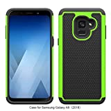 Samsung Galaxy A8 2018 Case Rugged Impact Heavy Duty (Drop Protection) Dual Layer Impact Shock Proof Cover Skin by REBELCASE (SM-A530 A530W) - Green