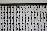 3 ft x 6 ft Bubble Beaded Curtain – Room Divider -Jet Black
