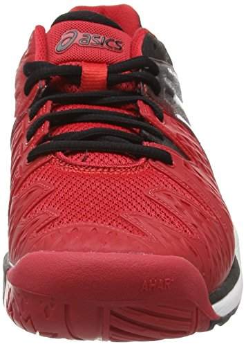 ASICS Gel-Resolution 6 - Zapatillas de deporte para hombre Rojo (Fiery Red/Black/White 2390)