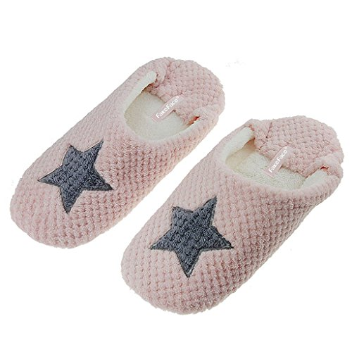 Pantoufles heart Adultes JDS Star Chaussures Rose Fortuning's Couple Peluche Fleece Cosy Love Unisexe confortables House 1EXqdw0