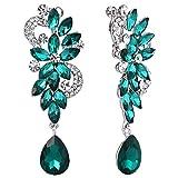 Best Bling Jewelry Wedding Presents - BriLove Women's Wedding Bridal Clip-On Dangle Earrings Bohemian Review