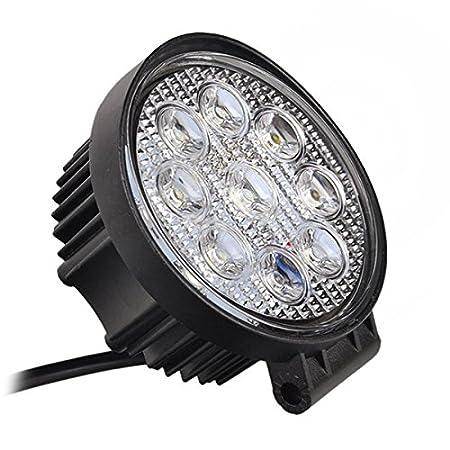 MCTECH 8 X 27W LED carr/é Offroad Flood SUV lumi/ère r/éflecteur phare des travaux l/égers UTV phares de travail ATV Offroad lampes suppl/émentaires Phare 12V 24V feu de recul