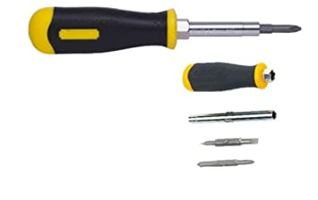 Stanley STHT68012-8 6 Way Screwdriver, Yellow and Black