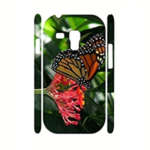 Kingsface 3D Animal cell phone case cover Design Butterfly Print Pattern Snap on JfavqJn1jCl cell phone case cover for Samsung Galaxy S3 Mini I8200 case cover