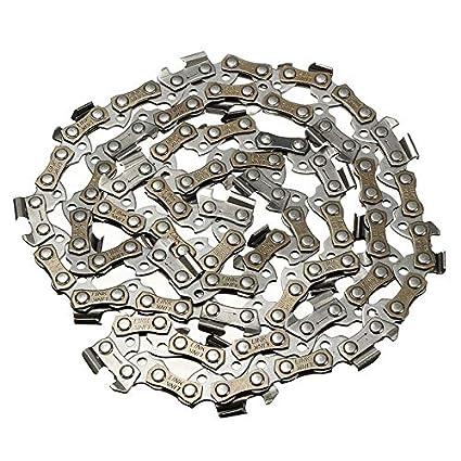 Cadena para motosierra de madera de 35,56 cm 50 52 eslabones de transmisi/ón 3//8 de paso cadena para motosierra negro