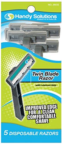 Handy Solutions Men's Twin Blade Razors - 5 pack 144 pcs sku# 1869525MA by Handy Solutions